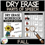 Dry Erase Parts of Speech Workbook: Fall ~Digital Download~